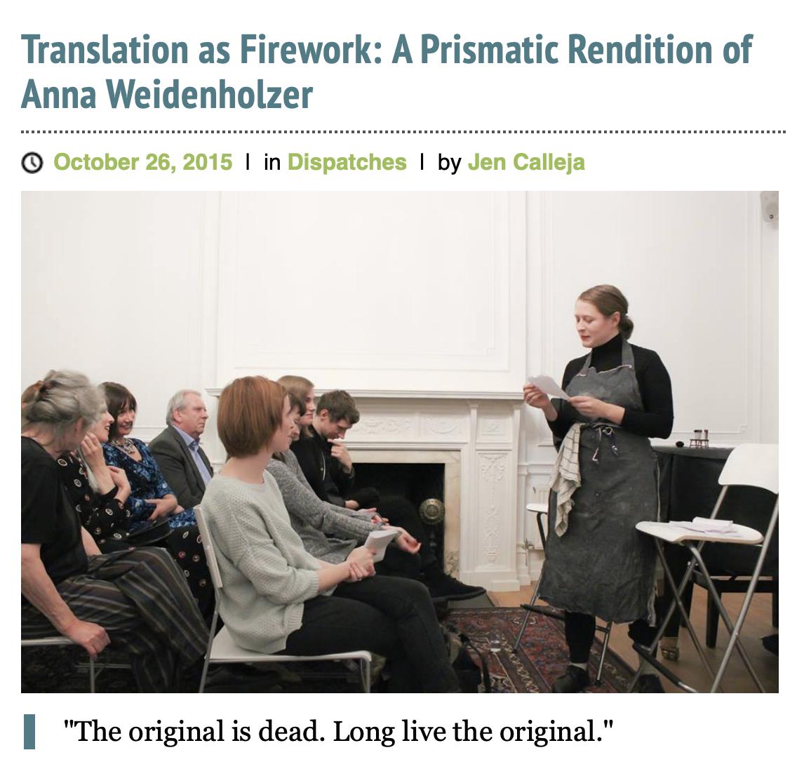 Translation as Firework by Jen Calleja