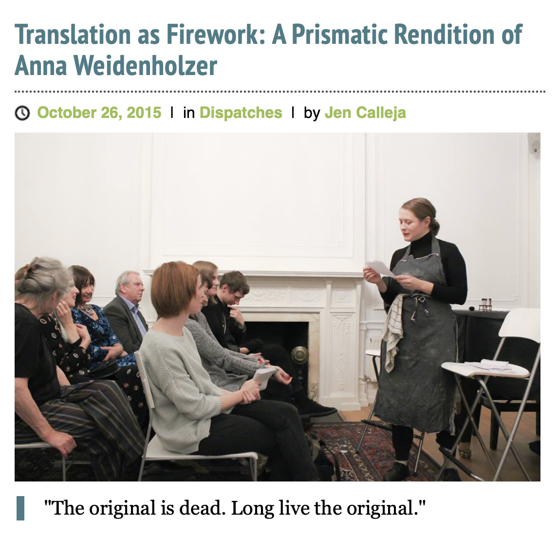Translation as Firework by Jen Calleja