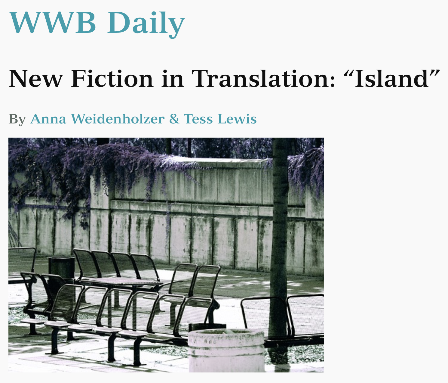 Islands, Words without Borders